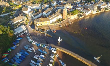 A new aerial view of Lympstone harbour