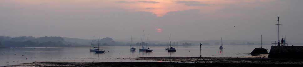 Lympstone estuary sunset