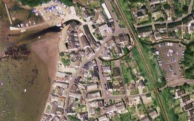 Aerial view of Lympstone Devon