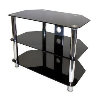 black glass tv stand. Black Bedroom Furniture Sets. Home Design Ideas