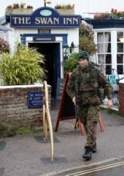Marine exercise in Lympstone
