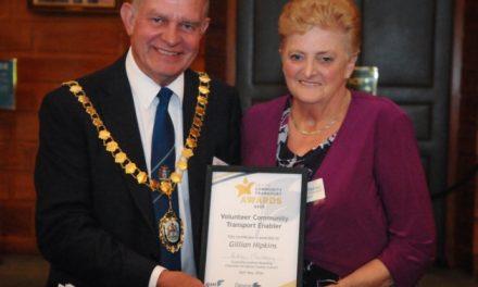 Transport Coordinator for Friends of Underhill Surgery receives award