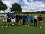 Lympstone Golfers about to tee off at the Oaks Course, Woodbury Park