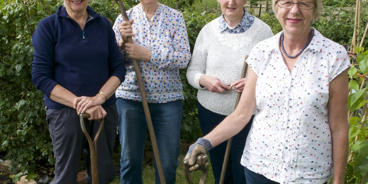 Lympstone WI allotment holders feature in national magazine