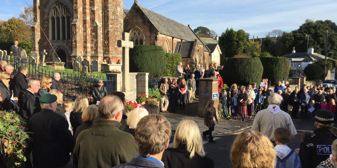Parishioners gather to reflect on Remembrance Sunday