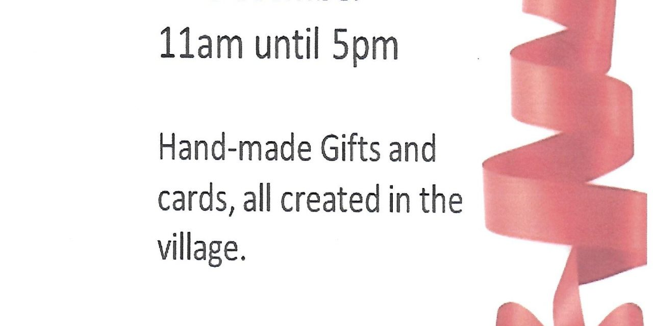 Christmas Arts and Crafts Fair not to be missed!