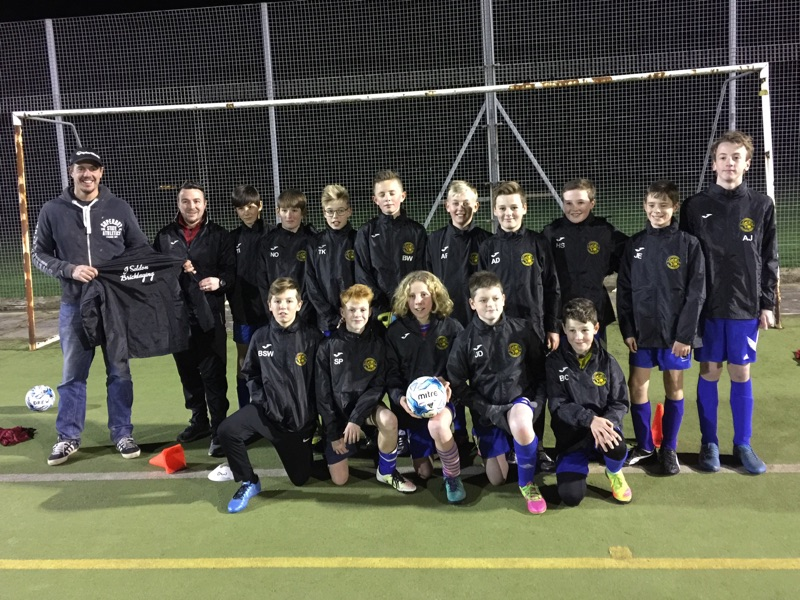 Lympstone Rangers U13's supported by local builder