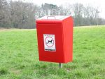 furnitubes_luk745f_lucky_steel_dog_waste_bin___root_fixed_version_powder_coated_red