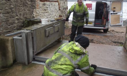 Environment Agency carries out maintenance work on the Estuary Flood gates