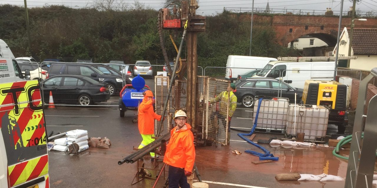 South West Water investigate ground conditions in Car Park
