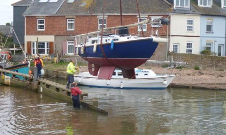 Craning afloat…another sailing season is underway