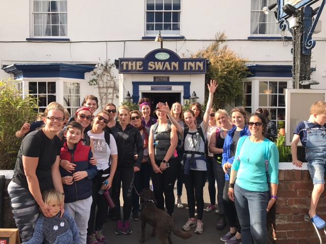 Lympstone Preschool Marathon walk fundraiser
