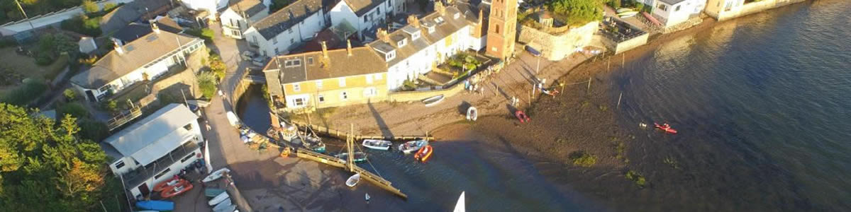 Lympstone Harbour from the air
