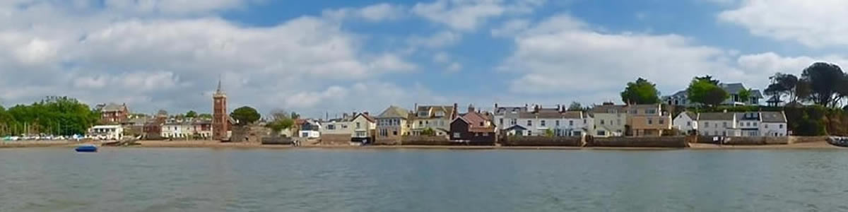 Lympstone Village from the Estuary