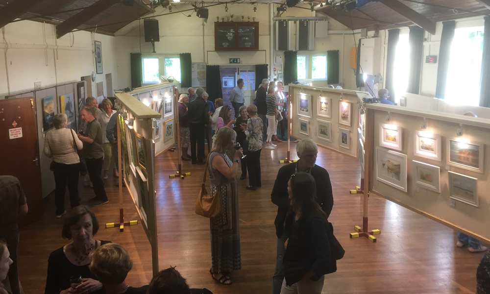 Many and varied talents on display at the Lympstone Art Show