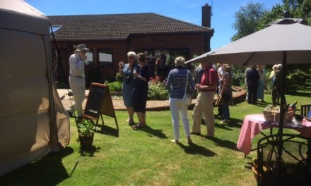 Hospicecare Charity event in Lympstone gardens