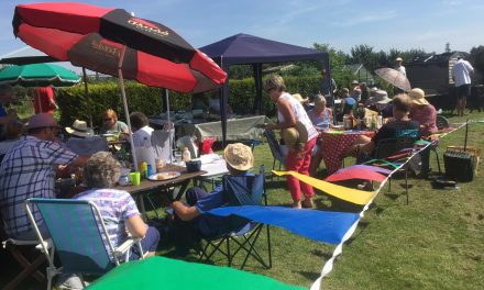 Allotment holders enjoy summer bar-b-q