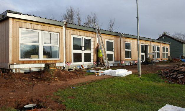 Pre-school building arrives