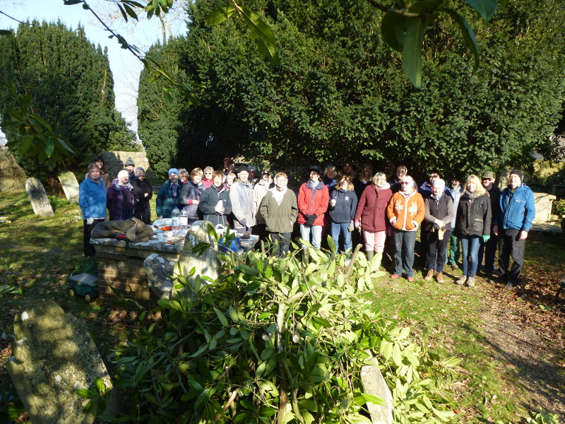 Gulliford Burial Ground working party a great success