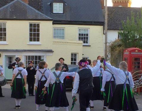Raddon Hill Clog Morris group visit Lympstone