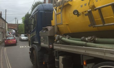 Burst sewer pipe; Tankers in the village