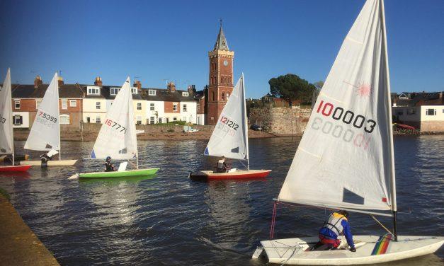 Lympstone Sailing Club; the racing season is well under way