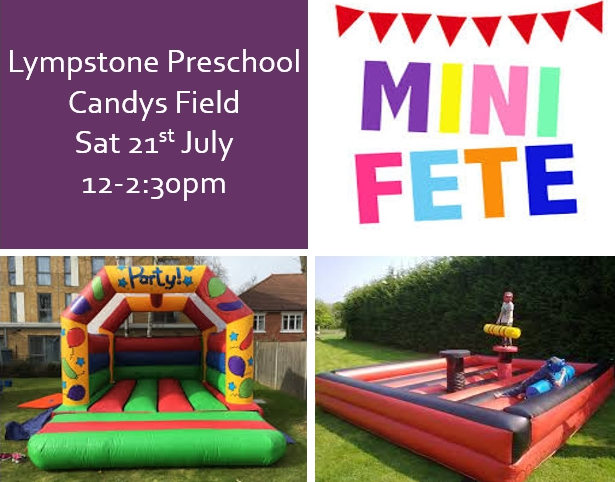 Preschool Mini Fete – Saturday 21st July