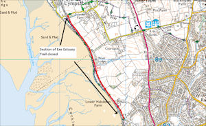 Cycle Path Closure 20th March – 22nd March