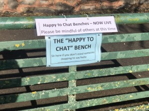 Happy to Chat Benches are now live