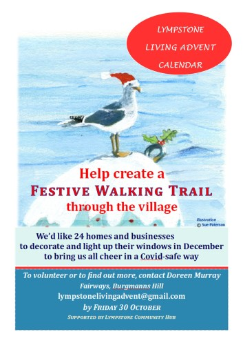 Help create a Lympstone Living Advent Calendar