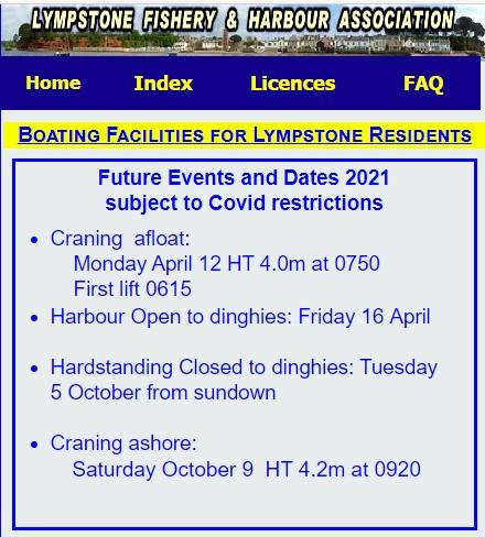 Dredging around Lympstone Harbour