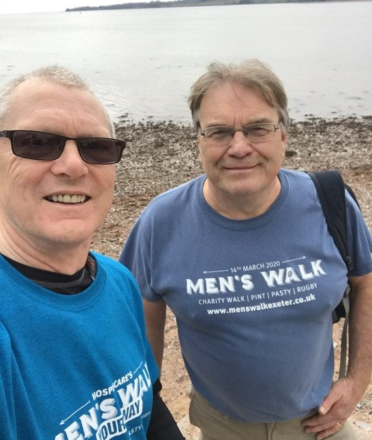 Tony and Malcolm Complete Men's Walk for Hospiscare