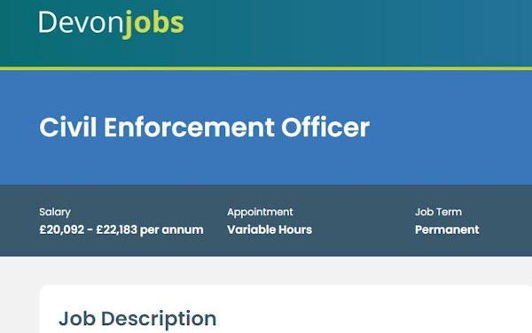 Civil Enforcement Officer – Devon Jobs